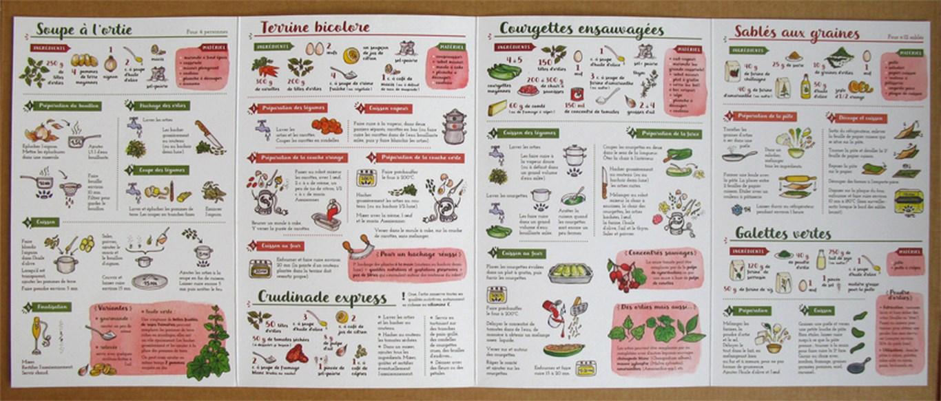 Je cuisine l'ortie : recettes illustrées en pas-à-pas - Textes : Caroline Calendula ; illustrations : Linaigrette