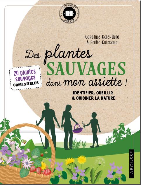 """Couverture de """"Des Plantes sauvages dans mon assiette"""", Caroline Calendula et Emilie Cuissard"""