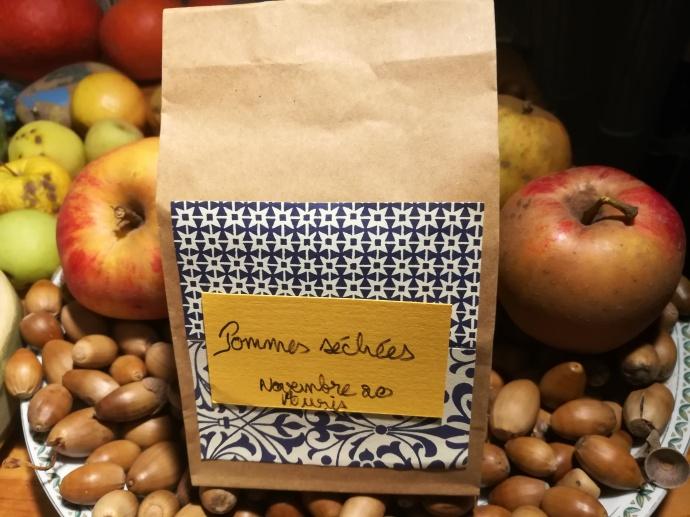 Sachet de pommes séchées